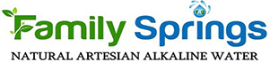 Family Springs Natural Artesian Alkaline Bottled Water Logo