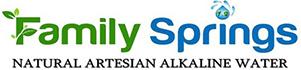 Family Springs Natural Artesian Alkaline Bottled Water Logo